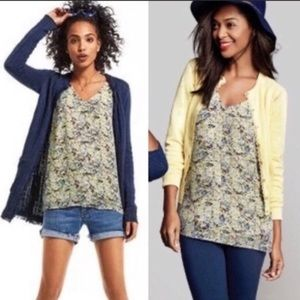Cabi yellow scatter floral tank top L